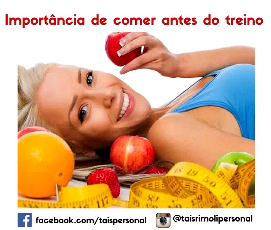 A IMPORTÂNCIA DE COMER ANTES DO TREINO